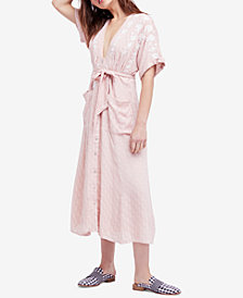 Free People Love To Love You Embroidered Midi Dress