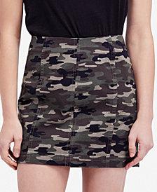 Free People Modern Femme Camo-Print Skirt