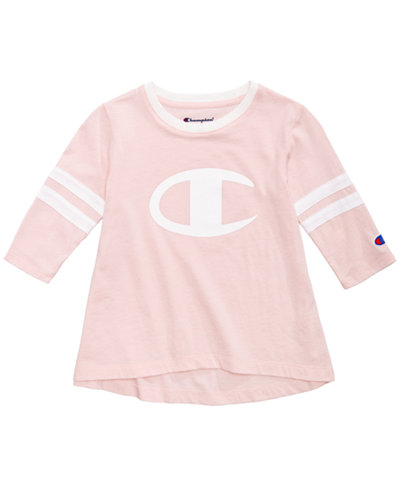 Champion Heritage Logo-Print Rugby T-Shirt, Toddler Girls