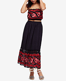 Free People 2-Pc. Embroidered Maxi Dress