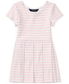 Ralph Lauren Striped Fit & Flare Dress, Little Girls