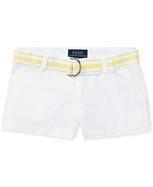 Ralph Lauren Cotton Chino Shorts, Little Girls
