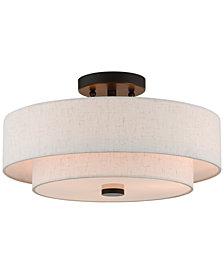 Livex Claremont 3-Light Semi Flush Mount