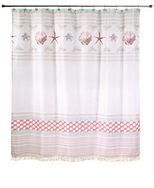 "Avanti Coronado 72"" x 72"" Graphic-Print Appliqué Shower Curtain"