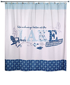 "Avanti Lake Life 72"" x 72"" Graphic-Print Shower Curtain"
