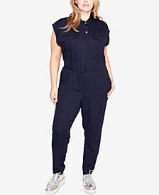 RACHEL Rachel Roy Trendy Plus Size Utility Jumpsuit