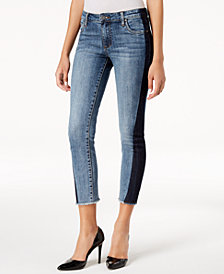 Kut from the Kloth Reese Shadow Frayed Ankle Skinny Jeans