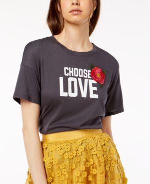 Carbon Copy Choose Love Embroidered T-Shirt 5923995