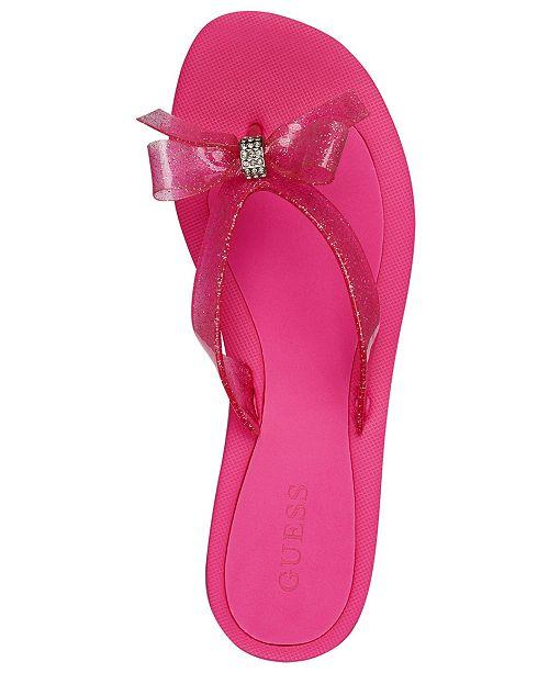 fdac53e2835b GUESS Tutu Bow Flip Flops   Reviews - Sandals   Flip Flops - Shoes ...