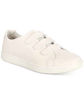 Lacoste MEN'S CARNABY STRAP LEATHER SNEAKERS