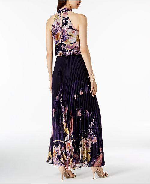 54680300278fe XSCAPE Pleated Chiffon Halter Gown & Reviews - Dresses - Women - Macy's