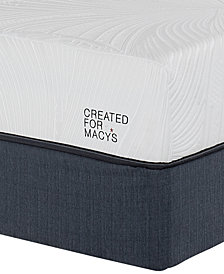 "MacyBed Lux Barton 10"" Cushion Firm Memory Foam Mattress Set - California King, Created for Macy's"