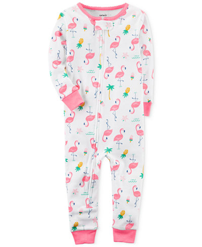 Carter's 1-Pc. Flamingo-Print Cotton Pajamas, Baby Girls