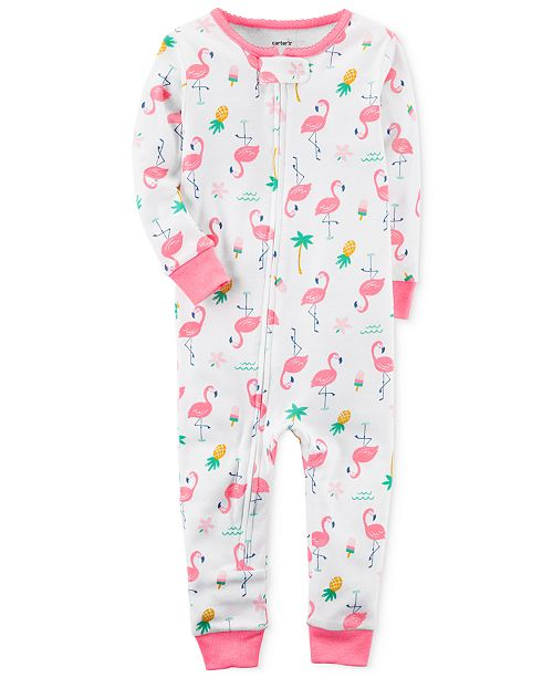 3fb3b42a7072 Carter s 1-Pc. Flamingo-Print Cotton Pajamas