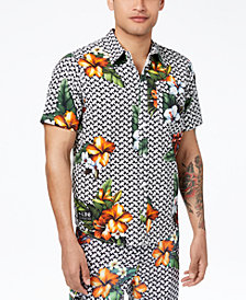 LRG Men's Descendent Floral-Print Shirt
