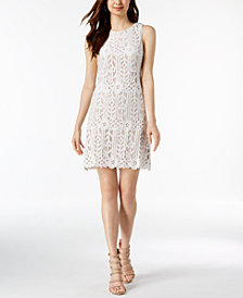 Jessica Howard Sleeveless Lace Sheath Dress, Regular & Petite