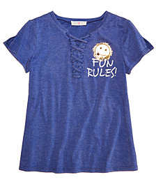 Kandy Kiss Lace-Up T-Shirt, Big Girls