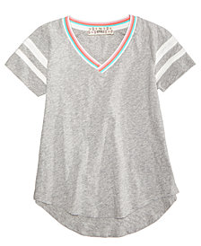 Pink Republic V-Neck Striped T-Shirt, Big Girls
