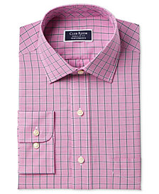 Club Room Men's Classic/Regular Fit Performance Windowpane Dress Shirt, Created for Macy's