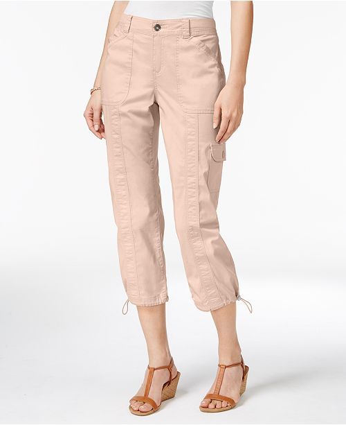 6bd4107c7669c ... Style & Co Petite Bungee-Hem Cargo Capri Pants, Created for Macy's ...