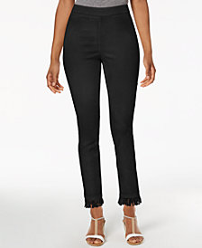 Style & Co Petite Fringe-Hem Pull-On Pants, Created for Macy's