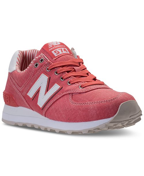 sports shoes f6411 d7399 New Balance Women's 574 Beach Chambray Casual ...