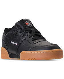 Reebok Big Boys'    Classics Workout Plus Casual Sneakers from Finish Line