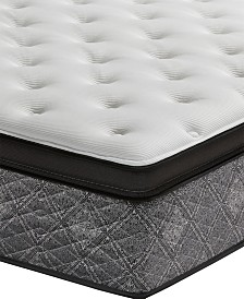 "MacyBed by Serta  Elite 14.5"" Plush Euro Pillow Top Mattress - Twin XL, Created for Macy's"
