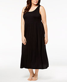 Alfani Plus Size Crochet-Back Nightgown, Created for Macy's