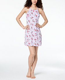 Alfani High-Neck Bouquet-Print Chemise, Created for Macy's