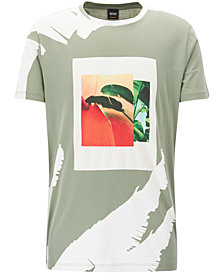 BOSS Men's Tropical-Print Cotton T-Shirt