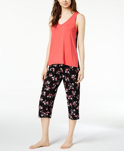 Alfani Printed-Panel Pajama Set, Created for Macy's