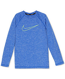 Nike Logo-Print Heathered Rash Guard, Big Boys