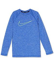 Nike Logo-Print Heathered Rash Guard, Big Boys