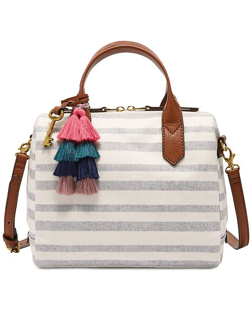 Fossil Fiona Small Fabric Printed Satchel