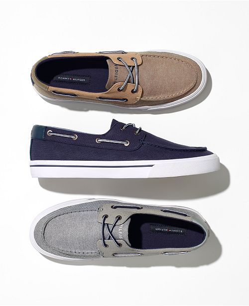 885b70646c6e66 Tommy Hilfiger Men s Phinx Canvas Boat Shoes