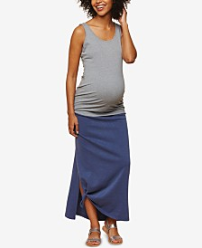 Motherhood Maternity French Terry Maxi Skirt