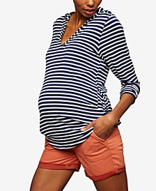 Cuffed Maternity Shorts