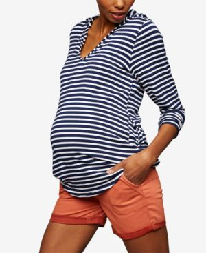 Image of A Pea In The Pod Cuffed Maternity Shorts