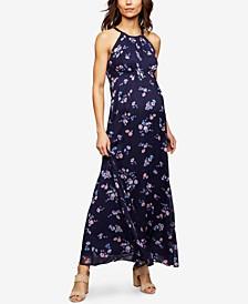 Maternity Floral-Print Maxi Dress