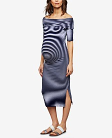 Isabella Oliver Maternity Off-The-Shoulder Dress
