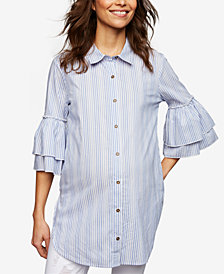 Ella Moss Maternity Ruffled-Sleeve Blouse
