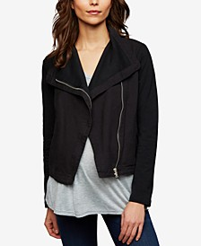 Maternity Draped Twill Jacket