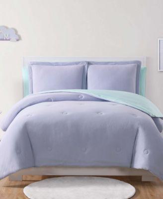 Kids Solid Jersey Reversible 5-Pc. Twin Comforter Set