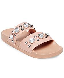 Steve Madden Women's Shinin Embellished Slide Sandals