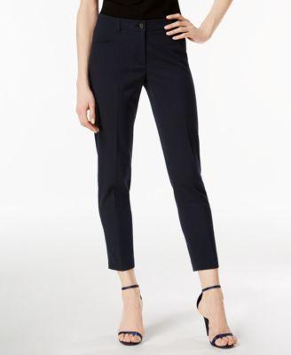 Straight-Leg Seersucker Pants