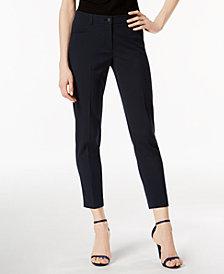Anne Klein Straight-Leg Seersucker Pants