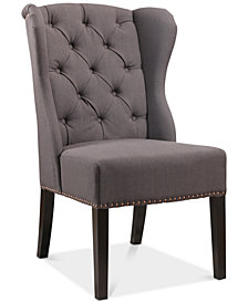 CLOSEOUT! Leone Wingback Dining Chair, Quick Ship