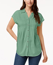Style & Co Petite Pleated Blouse, Created for Macy's