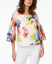 Trina Turk Coit Cotton Eyelet Top, Created for Macy's